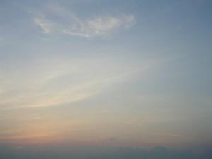 沖縄の夕暮れ