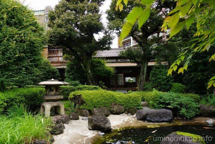 旧田中家住宅 ⑤池泉回遊式庭園と茶室を見学