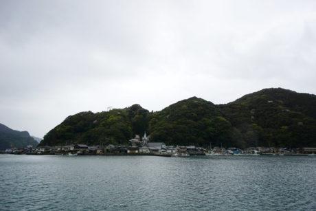 対岸から眺める崎津教会