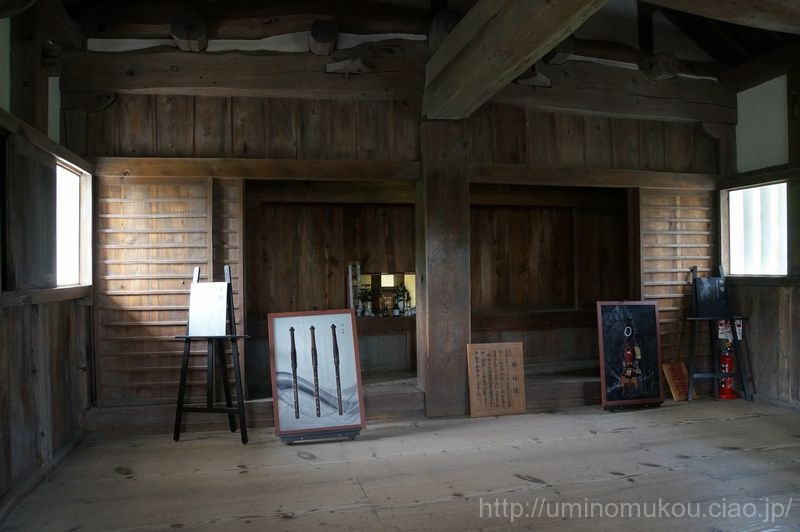 山陽の城めぐり 岡山(6) 備中松山城 天守内は不思議なお部屋が。