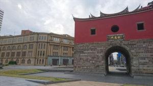 台北府城北門と台北北門郵便局