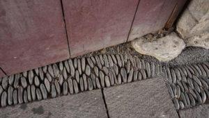 台北府城北門 ぎっしりと詰まった石