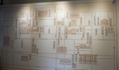 大稲埕故事工坊内の地図