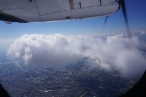 ATR機で静かで快適な空の旅