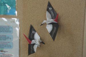 コウノトリが折れる折り紙